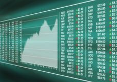 Controllo del mercato azionario Fotografia Stock Libera da Diritti
