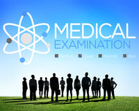 Controllo dell'esame medico sul concetto di benessere di diagnosi Immagine Stock Libera da Diritti