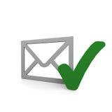 Controllo della posta illustrazione di stock