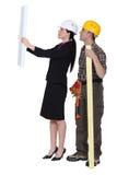 Controllo delle cianografie Fotografia Stock Libera da Diritti