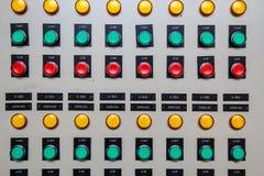 Controllo di accensione del bottone Immagine Stock