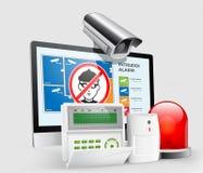 Controllo di accesso - zone 3 dell'allarme Fotografia Stock