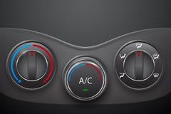 Controllo di clima dell'automobile con il bottone di stato dell'aria illustrazione vettoriale