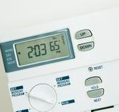 Controllo di clima un calore di 65 gradi Immagini Stock