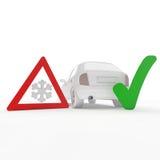 Controllo di inverno dell'automobile Immagini Stock