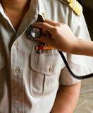 Controllo di medico della mano Fotografia Stock