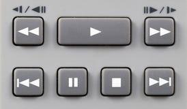 Controllo di playback Fotografia Stock