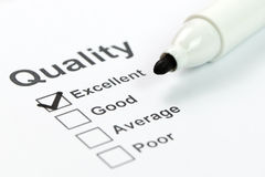 Controllo di qualità immagini stock