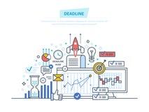 Controllo di tempo, limitazione, pianificazione aziendale royalty illustrazione gratis