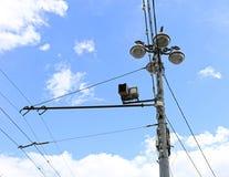 Controllo di velocità della macchina fotografica sulla strada Fotografia Stock