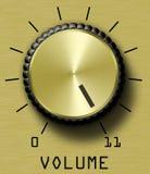 Controllo di volume dell'oro undici Immagine Stock