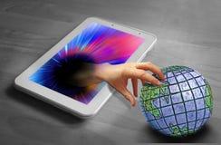 Controllo globale di Internet fotografie stock