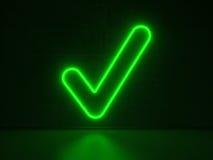 Controllo - insegne al neon di serie Immagini Stock Libere da Diritti