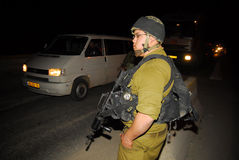 Controllo israeliano Fotografia Stock Libera da Diritti