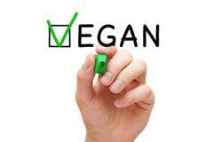 Controllo Mark Concept del vegano immagini stock