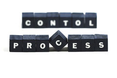 Controllo processo di processo Fotografie Stock