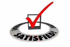Controllo soddisfatto Mark Box Customer Satisfaction Fotografia Stock Libera da Diritti