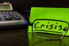 Controllo sopra le finanze in tempo di crisi Fotografie Stock