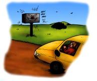 Controllo spaventoso di velocità del radar (2008) Fotografia Stock