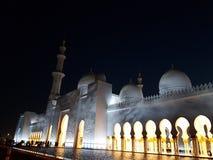 Controllo Zayed Abu Dhabi di Mosquée Fotografia Stock Libera da Diritti