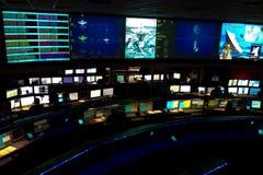 Controlo da missão no laboratório de propulsão de jato Fotos de Stock Royalty Free