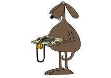 Controlo de segurança canino ilustração stock