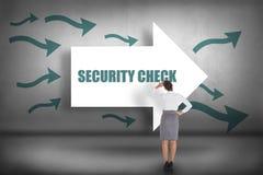 Controlo de segurança contra apontar das setas foto de stock royalty free