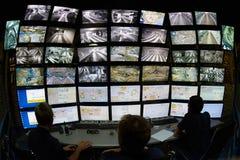 Controlo a distância com telas Imagem de Stock Royalty Free
