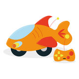 Controlo a distância Toy Isolated On White dos desenhos animados Fotografia de Stock