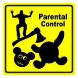 Controlo parental Imagens de Stock Royalty Free