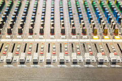 The controls of an Audio Mixing Royalty Free Stock Photography