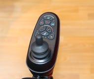Controls for a Disabilty Wheelchair. Royalty Free Stock Photos