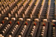 Controls of electronic mixer Stock Photo