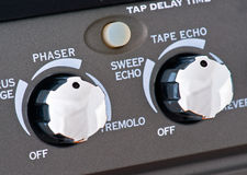 Controls of a guitar amplifier Royalty Free Stock Photography