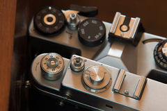 Controls of Old Cameras Royalty Free Stock Photo