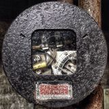 Controls over the past. An old cheater part for an HVAC unit in an industrial warehouse royalty free stock image