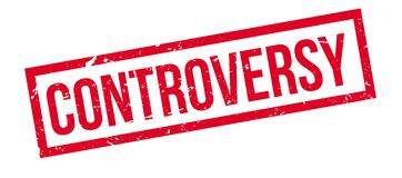 Controversy rubber stamp Royalty Free Stock Image