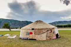 Contructing Mongolian yurt Stock Photos
