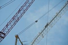 Contruction cranes Stock Photography