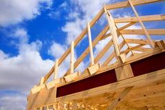 Contruction di legno residenziale americano della casa Immagine Stock