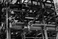 Contruction pracownicy na budowie Zdjęcie Stock
