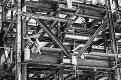 Contruction pracownicy na budowie Zdjęcie Royalty Free
