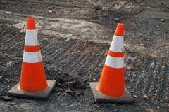 Contruction road Royalty Free Stock Photo