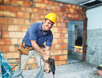 Contruction worker on duty Royalty Free Stock Image