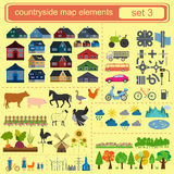 Contryside map elements royalty free illustration