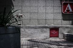 Contstructions-Straßenseite stockfoto