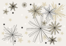 contur kwiatów wektor Zdjęcie Stock