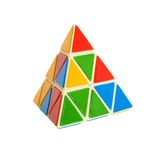 Conundrum. Triagale pyramid conundrum on the white background Royalty Free Stock Image