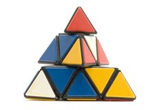 Conundrum pyramidion. Object on white - toy conundrum pyramidion Royalty Free Stock Photography