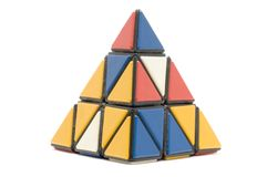 Conundrum pyramidion on white. Object on white - toy conundrum pyramidion Royalty Free Stock Images